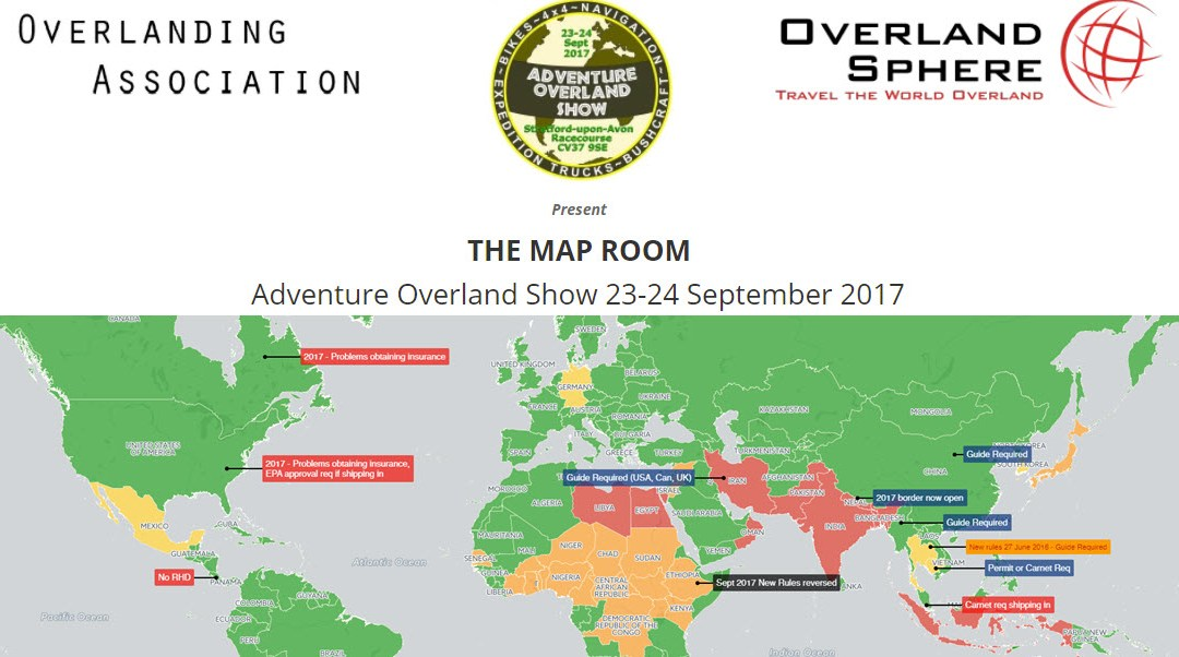 The Map Room – Adventure Overland Show 2017