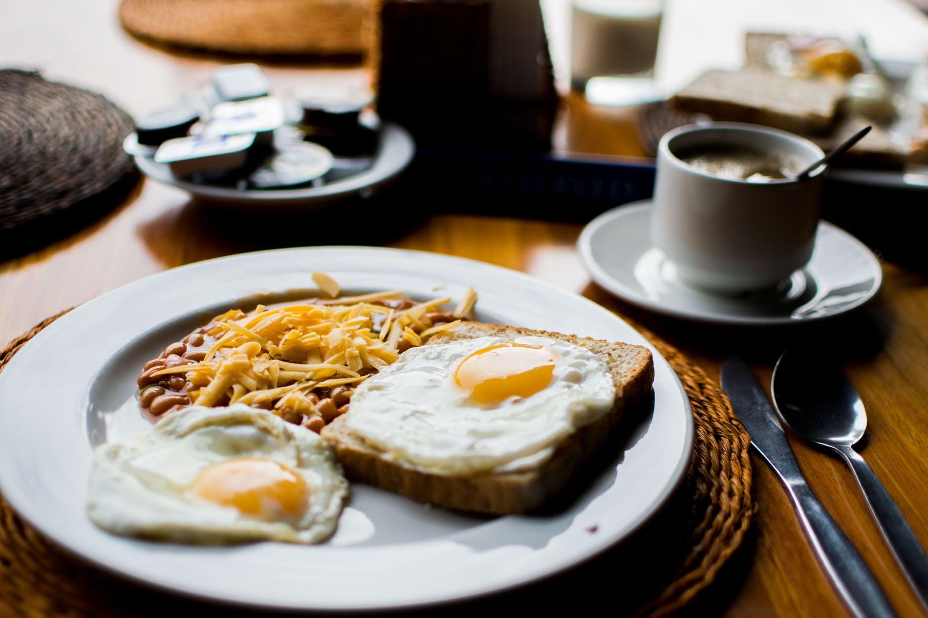 mens breakfast, breakfast, men's breakfast, coffeee, eggs