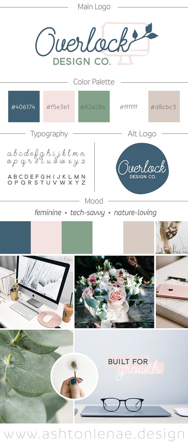 Overlock Design Co. brand board by Ashton Lenae Design