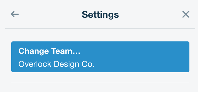 In the Settings panel on your Trello Board, Change Team is the first option.