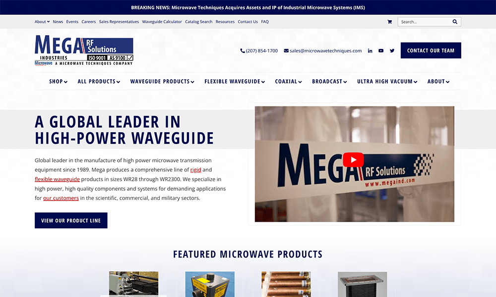 Mega Industries new website combines a custom Genesis-powered theme, WooCommerce, and a custom-built product quote system to create a dynamic, powerful, and interactive website.