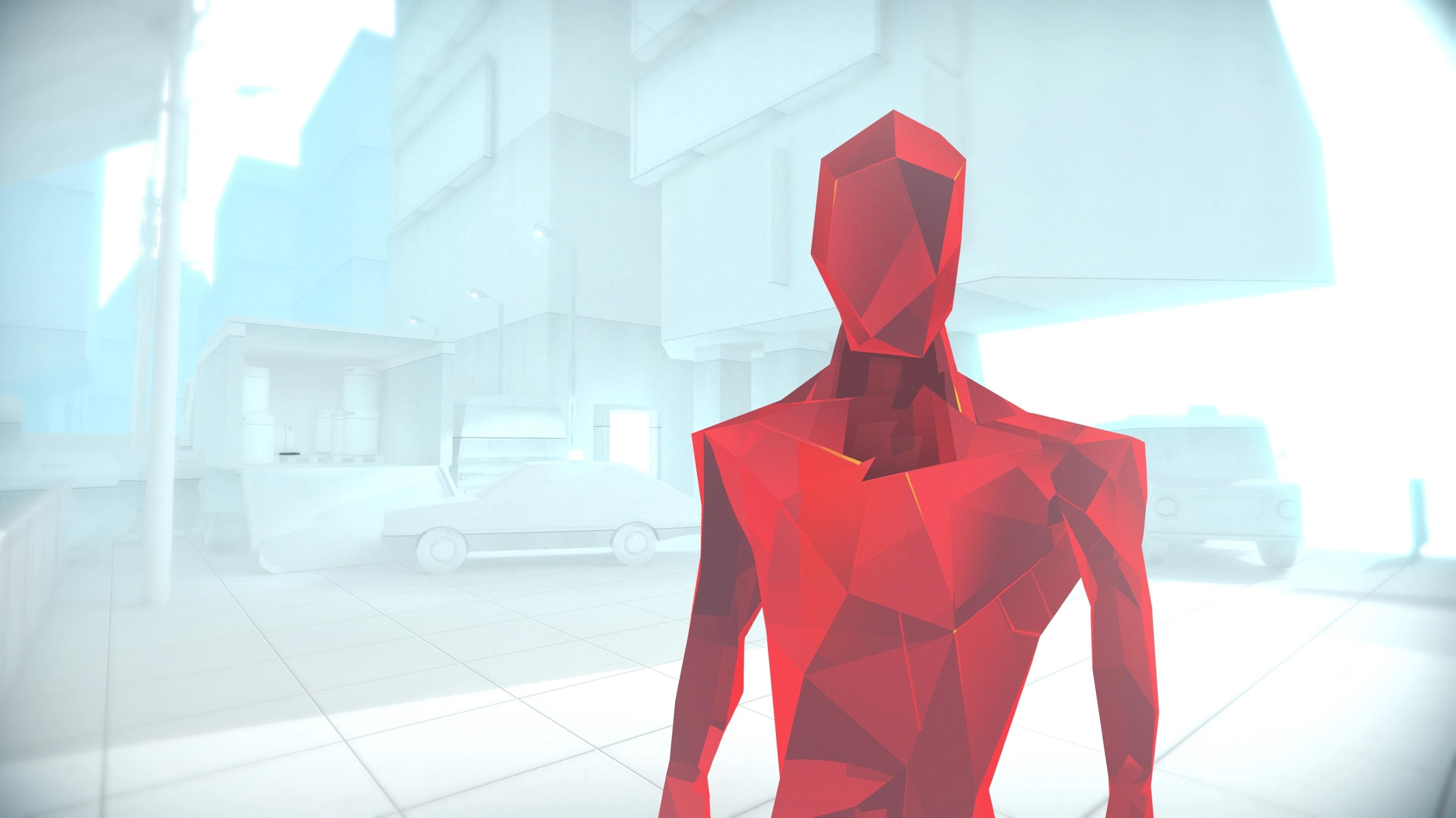 Screenshot in-game in SUPERHOT of red enemy