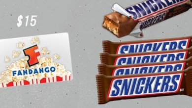 Photo of Giveaway: Snickers Movie Prize Pack With $15 Fandango Gift Card