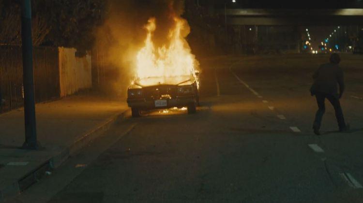 bird man torches a car