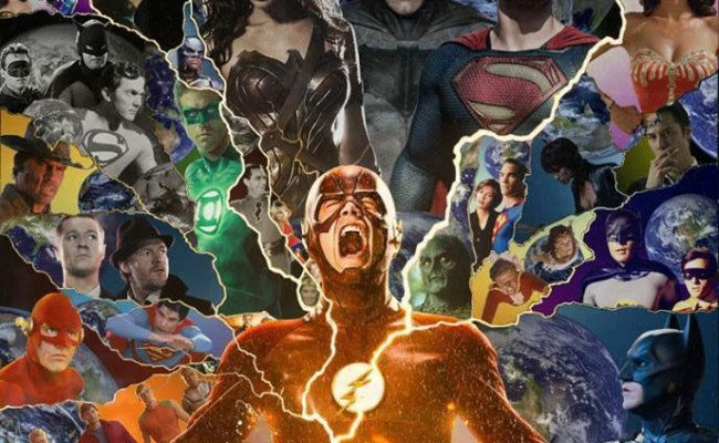 A Fan Poster For A Crisis On Infinite Earths Movie That