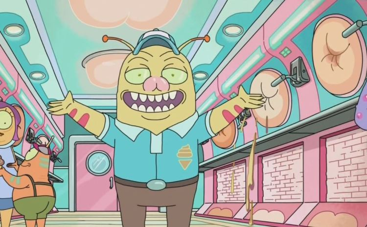 rick and morty - butthole ice cream parlor