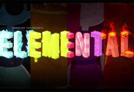 """Title card to Adventure Time's """"Elementals"""""""