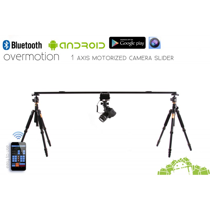 1 AXIS Motorized Camera Slider, Motion Control, Bluetooth