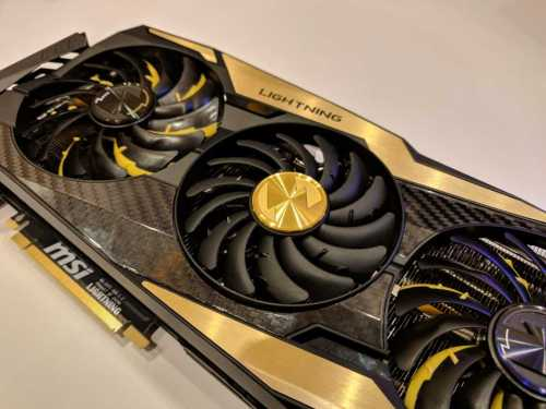 MSI GeForce RTX 2080 Ti Lightning на фото