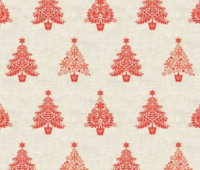 Andover Makower Scandi  R Red Trees 10 30 Yd