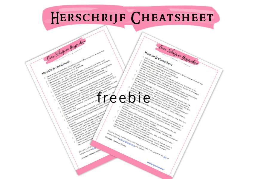 Herschrijf cheatsheet