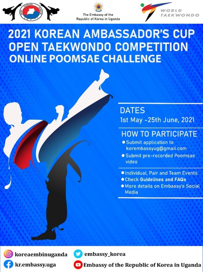 How To Take Part In The 2021 Korean Ambassador's Cup Open Taekwondo Competition Online Apoomsae Challenge 1 MUGIBSON