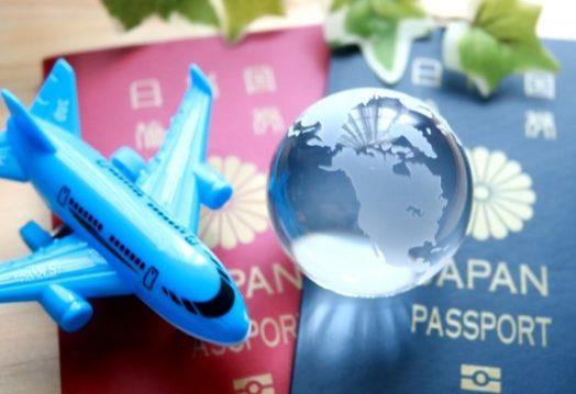 passpot and airplane