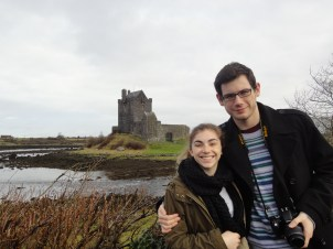 Michael and I at Dunguaire castle