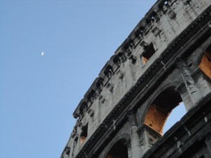 Colosseum and the moon