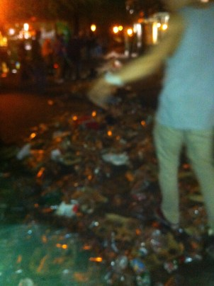 Trash after King's Day