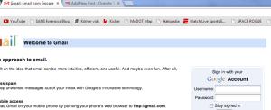 gmail tab
