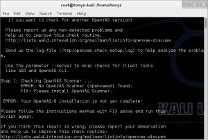 Fixvirusscreenshot-openvasinstall