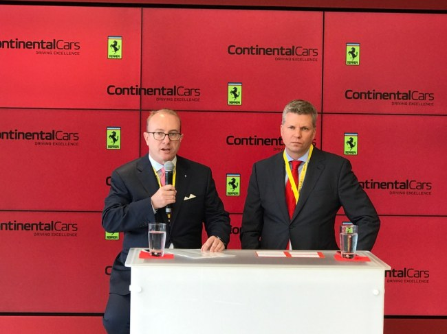 Ferrari Australasia CEO, Herbert Appleroth and Far East & Middle East CEO, Dieter Knechtel