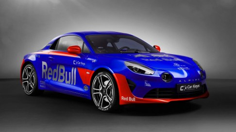 We really struggled to choose a Renault that would show off the amazing Toro Rosso livery for 2017. We thought about the A110-50 Alpine Concept, but ended up with the A110 from Renault sub-brand Alpine. We're satisfied with the result, even if it isn't quite a supercar.