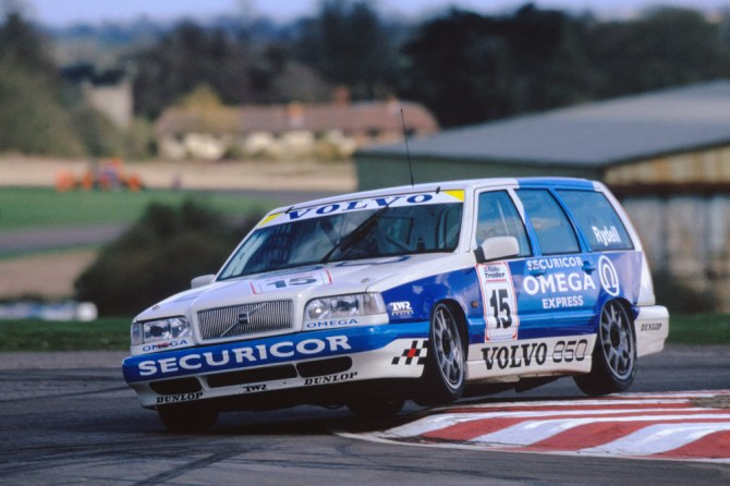Responsible for making the estate the object of every family man's desire, the unlikely Volvo 850 Estate became a legend on the track. Developed with Tom Walkinshaw Racing (TWR), there were minor aerodynamic benefits to the boxy estate over the saloon but the model was primarily chosen for publicity.