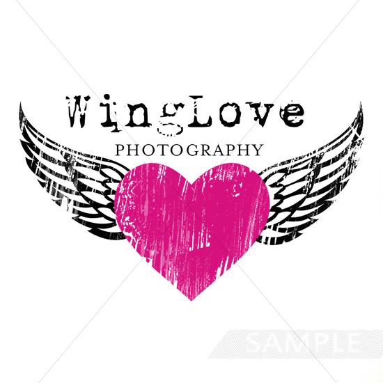 wing love heart logo