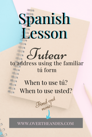 Spanish lesson Tú and usted