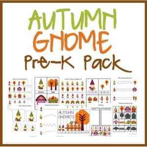 Autumn Gnome Pre-K Pack