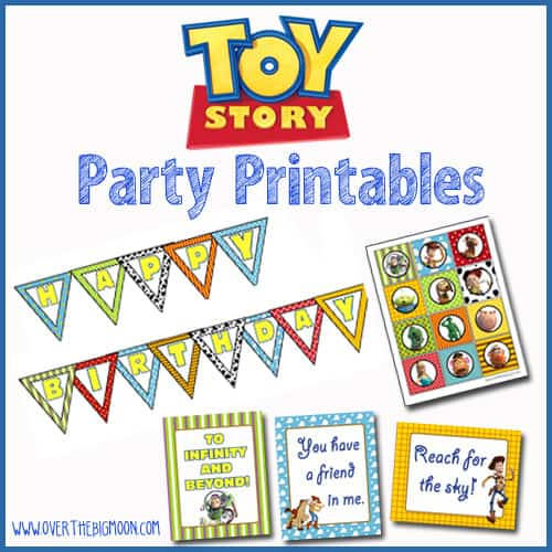 photograph regarding Printable Toy titled Toy Tale Social gathering Printables More than The Significant Moon