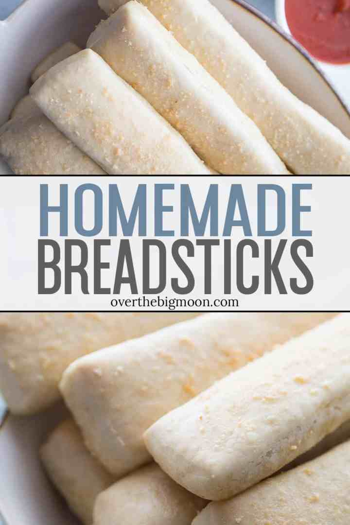These Easy Homemade Breadsticks can be made from start to finish in about an hour! They are perfect to serve with any meal that needs a bread - specifically Italian dinners, pizza and soups!