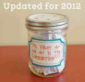 Summer Jar List - New Ideas