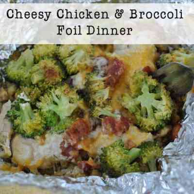 Cheesy Chicken and Broccoli Foil Dinner