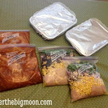 Freezer Meals - great for busy families! These recipes are some of my families favorite! www.overthebigmoon.com!