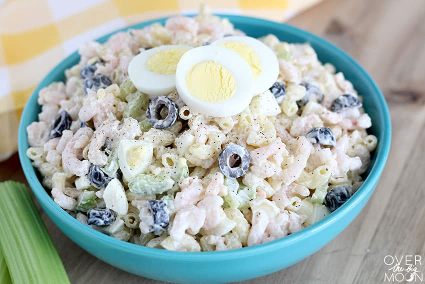Easy Macaroni Salad -- this class recipe should be in everyones recipe book! Enjoy! From overthebigmoon.com!