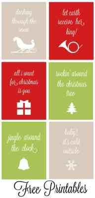 Christmas Carol Free Printables