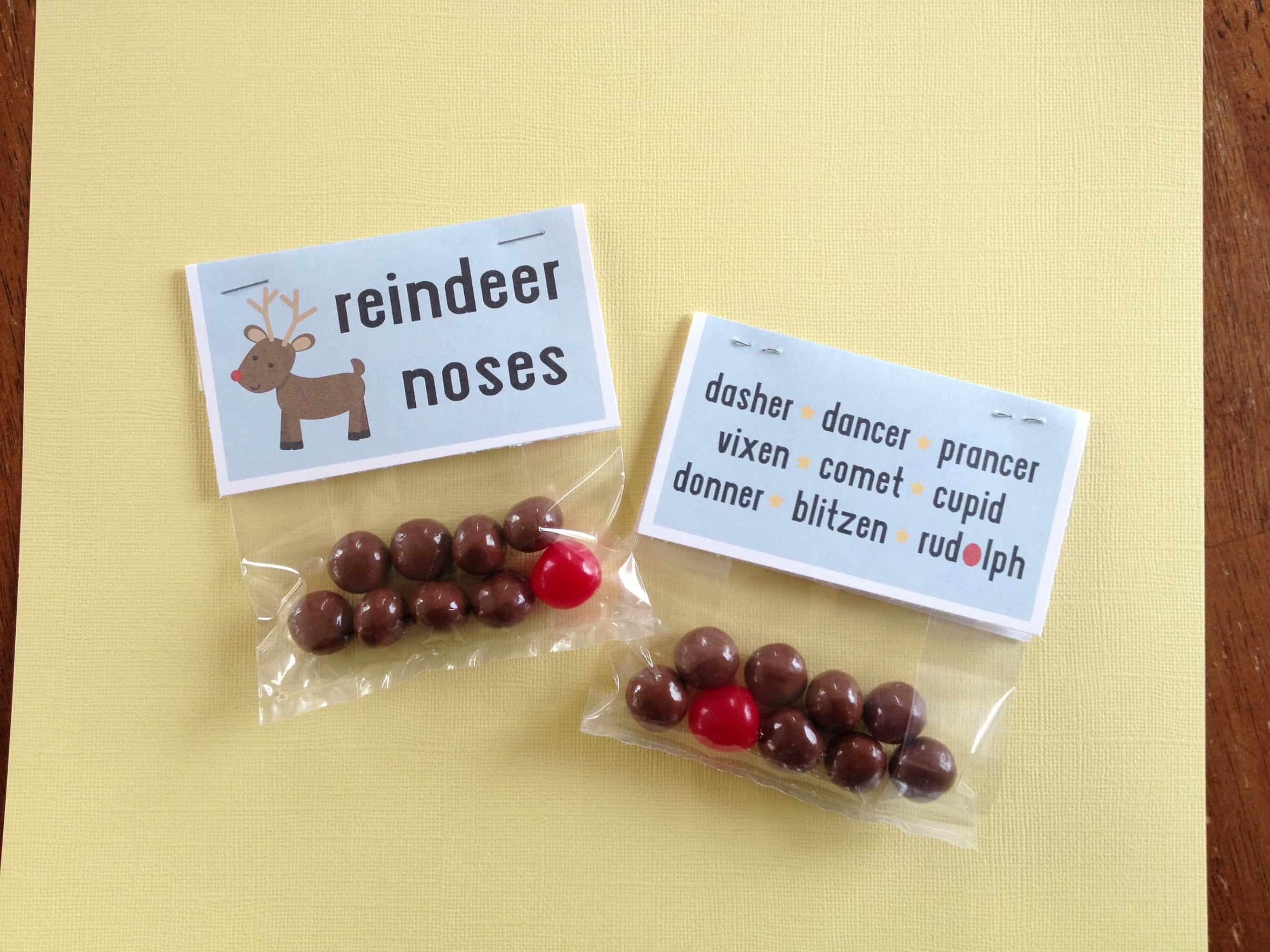 photograph about Reindeer Noses Printable called Reindeer Noses - No cost Printable