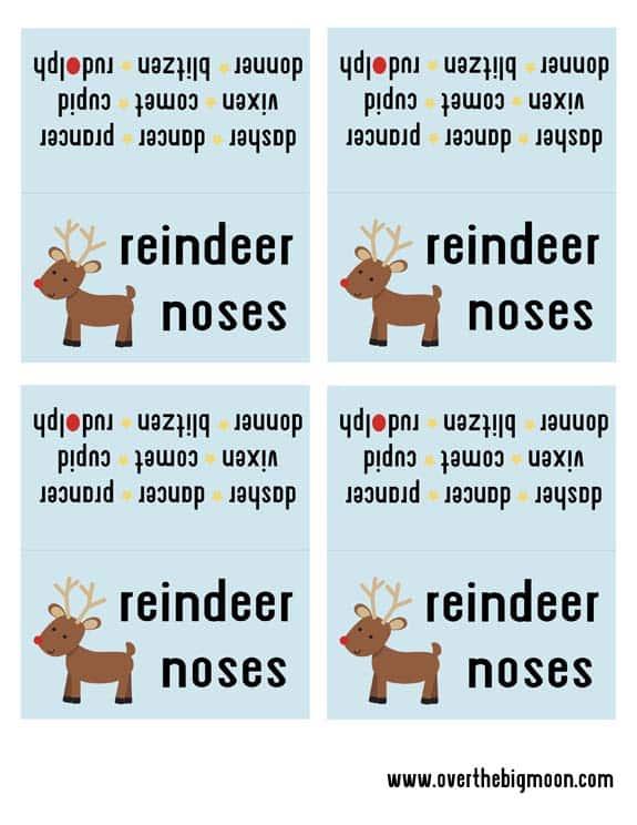 Sample of Reindeer Noses Printable Download