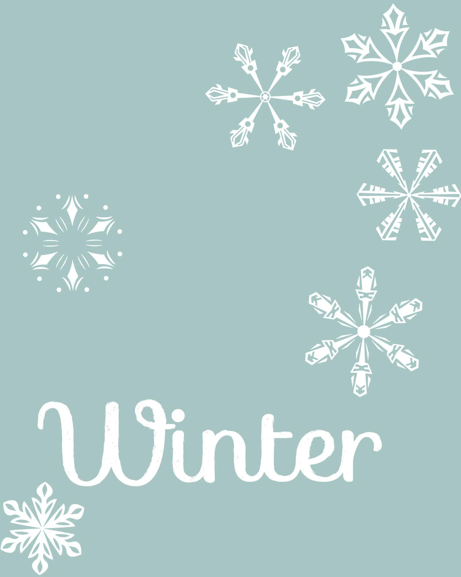 Winter Free Printable