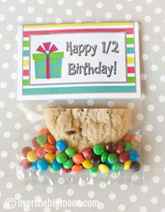 Half Birthday Class Gift with Free Printable Bag Topper
