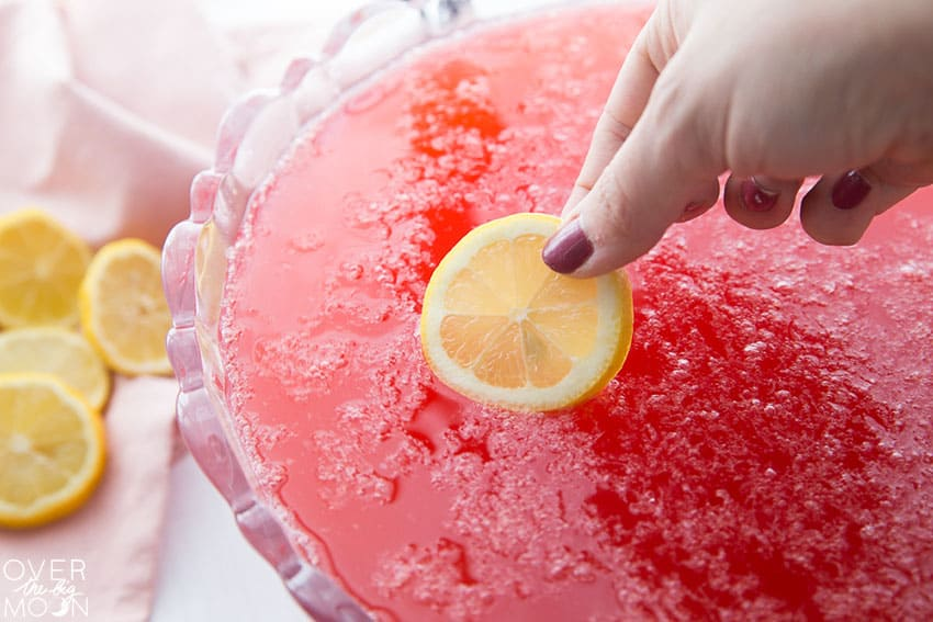 Add lemons to the top of the punch!