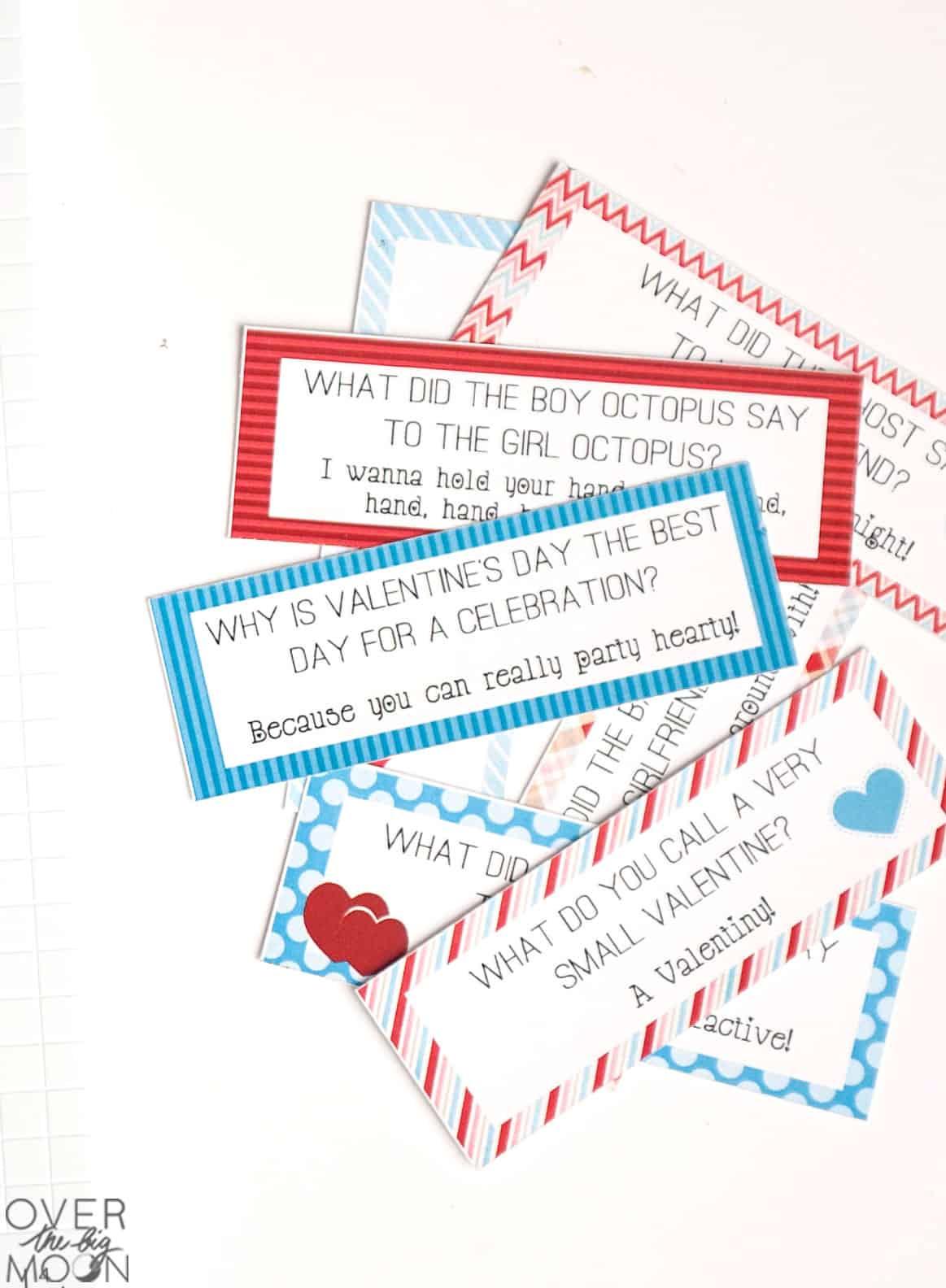 Free Printable Valentines Lunch Box Joke Cards