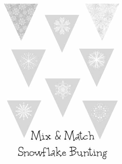 snowflake bunting button
