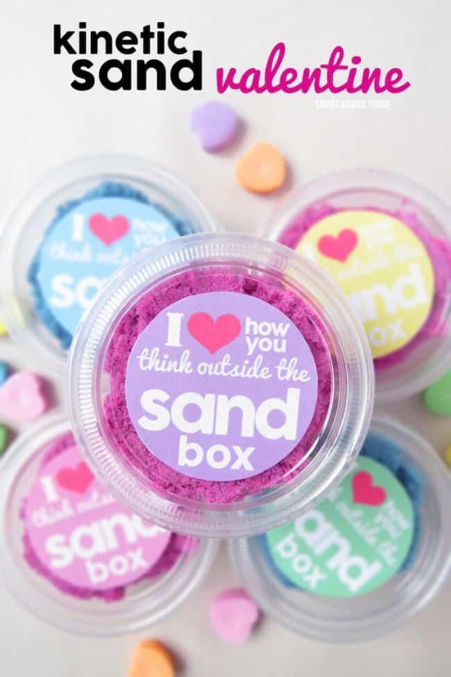 Sand Valentine Handout Idea - Candy Free.