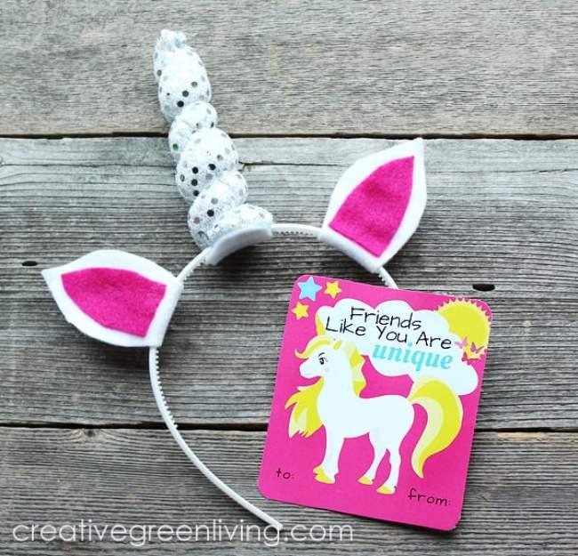 Unicorn Valentine's Handout Idea - Candy Free Idea