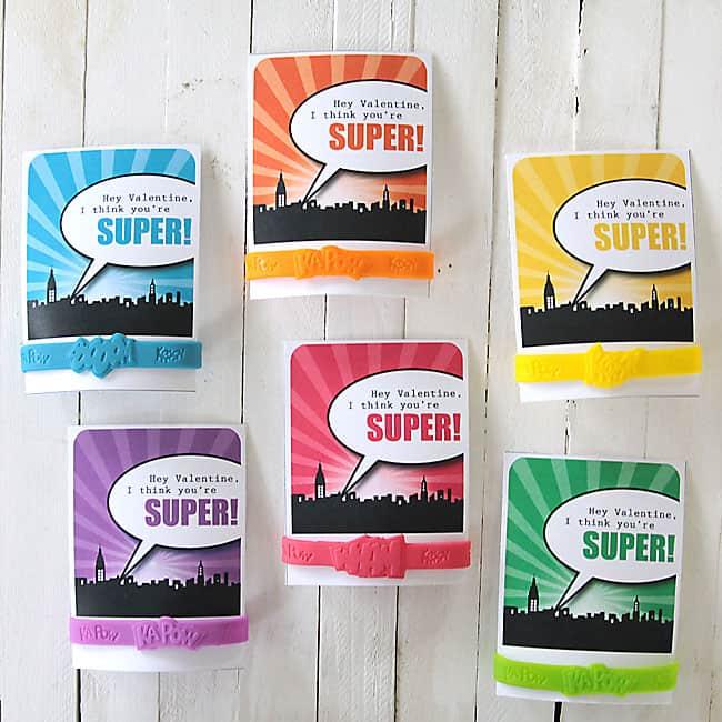 Superhero Valentines Printable and Idea - Candy Free Idea!