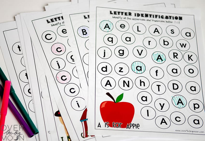 picture relating to Printable Big Alphabet Letters known as Comprehensive Alphabet Letter Identity Printables