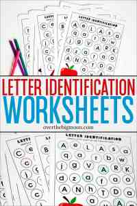 These Alphabet Letter Identification Printables are such a fun way for preschoolers to learn their letters! Just download, print and start the learning fun! From overthebigmoon.com!