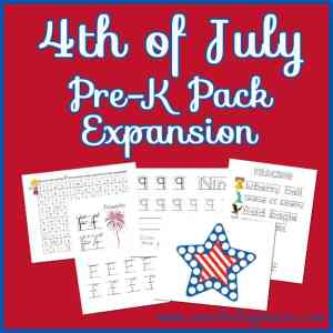 4th of July Pre-K Pack Expansion