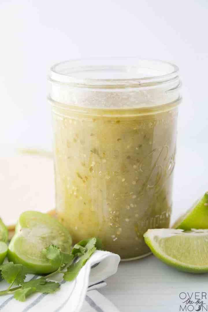 Homemade Tomatillo Enchilada Sauce - overthebigmoon.com