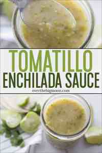 This Cilantro Lime Enchilada Sauce is full of flavor and will help result in some tasty homemade Enchiladas! Use it immediately or enjoy these instructions to bottle it, so you can enjoy it all year long! From overthebigmoon.com!
